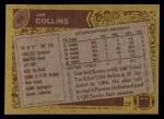 1986 Topps #89  Jim Collins  Back Thumbnail