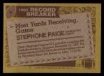 1986 Topps #6  Stephone Paige  Back Thumbnail