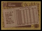 1986 Topps #50  Nat Moore  Back Thumbnail