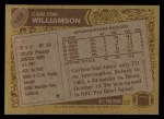 1986 Topps #169  Carlton Williamson  Back Thumbnail