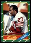 1986 Topps #169  Carlton Williamson  Front Thumbnail