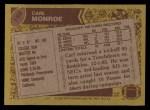 1986 Topps #159  Carl Monroe  Back Thumbnail