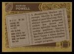 1986 Topps #103  Marvin Powell  Back Thumbnail