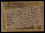 1986 Topps #145  Zeke Mowatt  Back Thumbnail