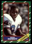 1986 Topps #145  Zeke Mowatt  Front Thumbnail