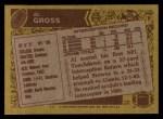 1986 Topps #199  Al Gross  Back Thumbnail