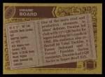1986 Topps #166  Dwaine Board  Back Thumbnail