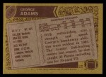 1986 Topps #140  George Adams  Back Thumbnail