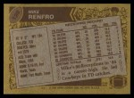 1986 Topps #128  Mike Renfro  Back Thumbnail