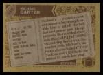 1986 Topps #165  Michael Carter  Back Thumbnail