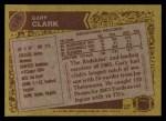1986 Topps #176  Gary Clark  Back Thumbnail