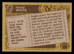 1986 Topps #275  Reggie White  Back Thumbnail