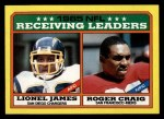1986 Topps #226   -  Lionel James / Roger Craig Receiving Leaders Front Thumbnail