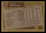 1986 Topps #237  Kellen Winslow  Back Thumbnail
