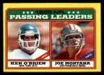 1986 Topps #225   -  Joe Montana / Ken O'Brien Passing Leaders Front Thumbnail