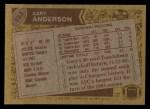 1986 Topps #233  Gary Anderson   Back Thumbnail