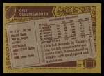 1986 Topps #258  Cris Collinsworth  Back Thumbnail