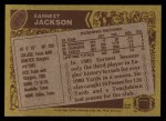 1986 Topps #270  Earnest Jackson  Back Thumbnail