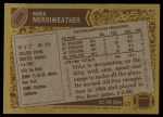 1986 Topps #289  Mike Merriweather  Back Thumbnail