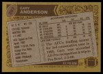 1986 Topps #287  Gary Anderson  Back Thumbnail