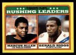 1986 Topps #227   -  Marcus Allen / Gerald Riggs Rushing Leaders Front Thumbnail
