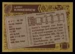 1986 Topps #257  Larry Kinnebrew  Back Thumbnail