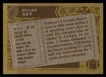 1986 Topps #251  William Gay  Back Thumbnail