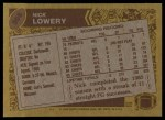 1986 Topps #308  Nick Lowery  Back Thumbnail