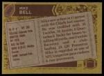 1986 Topps #309  Mike Bell  Back Thumbnail