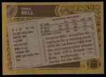 1986 Topps #386  Greg Bell  Back Thumbnail