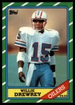 1986 Topps #354  Willie Drewrey  Front Thumbnail