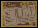 1986 Topps #392  Jim Haslett  Back Thumbnail