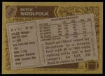 1986 Topps #352  Butch Woolfolk  Back Thumbnail