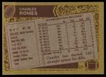1986 Topps #393  Charles Romes  Back Thumbnail