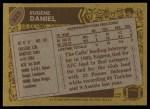 1986 Topps #323  Eugene Daniel  Back Thumbnail