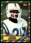 1986 Topps #323  Eugene Daniel  Front Thumbnail