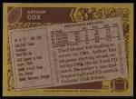 1986 Topps #365  Arthur Cox  Back Thumbnail