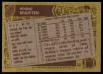 1986 Topps #319  Robbie Martin  Back Thumbnail