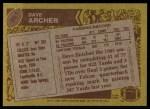 1986 Topps #361  David Archer  Back Thumbnail
