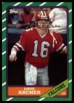 1986 Topps #361  David Archer  Front Thumbnail