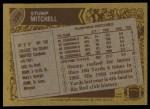1986 Topps #328  Stump Mitchell  Back Thumbnail
