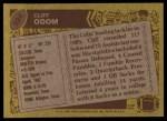 1986 Topps #324  Cliff Odom  Back Thumbnail