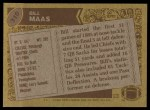 1986 Topps #310  Bill Maas  Back Thumbnail
