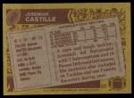 1986 Topps #382  Jeremiah Castille  Back Thumbnail