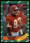 1986 Topps #306  Stephone Paige  Front Thumbnail