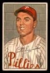 1952 Bowman #184  Curt Simmons  Front Thumbnail
