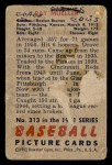 1951 Bowman #313  Ray Mueller  Back Thumbnail