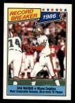 1987 Topps #6   -  Dan Marino Record Breaker Front Thumbnail