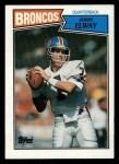 1987 Topps #31  John Elway  Front Thumbnail