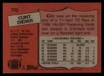 1987 Topps #70  Clint Didier  Back Thumbnail